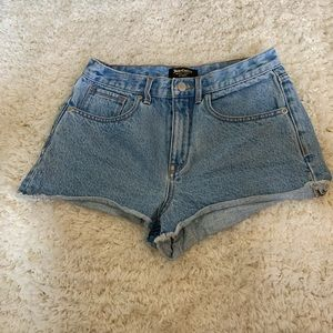 Juicy Couture Black Label• high waist jean shorts